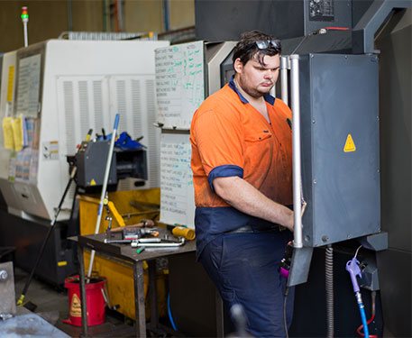One of our sheet metal apprentices
